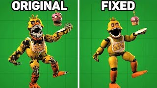 Fixed VS. Original Animatronics in Five Nights at Freddy's #1