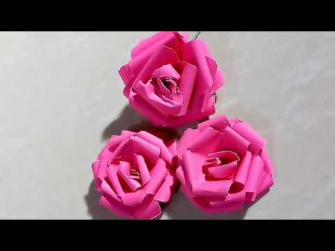 Tutorial : Easy ever Paper Rose | How to make Paper flower easy
