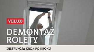 Jak zdemontować roletę wewnętrzą VELUX