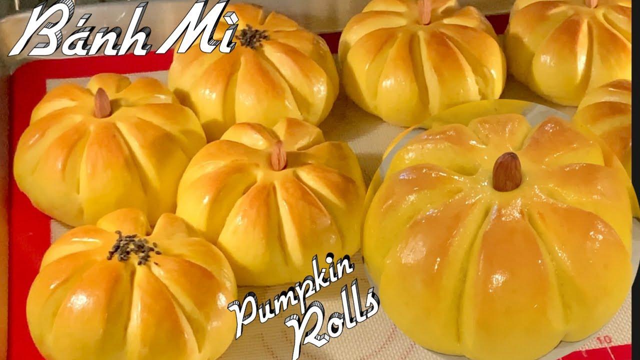 Cách Làm Bánh Mì Ngọt Bí Đỏ Mềm Dẻo Xốp Và Rất Là Ngon – fluffy pumpkin rolls Recipe – Taylor