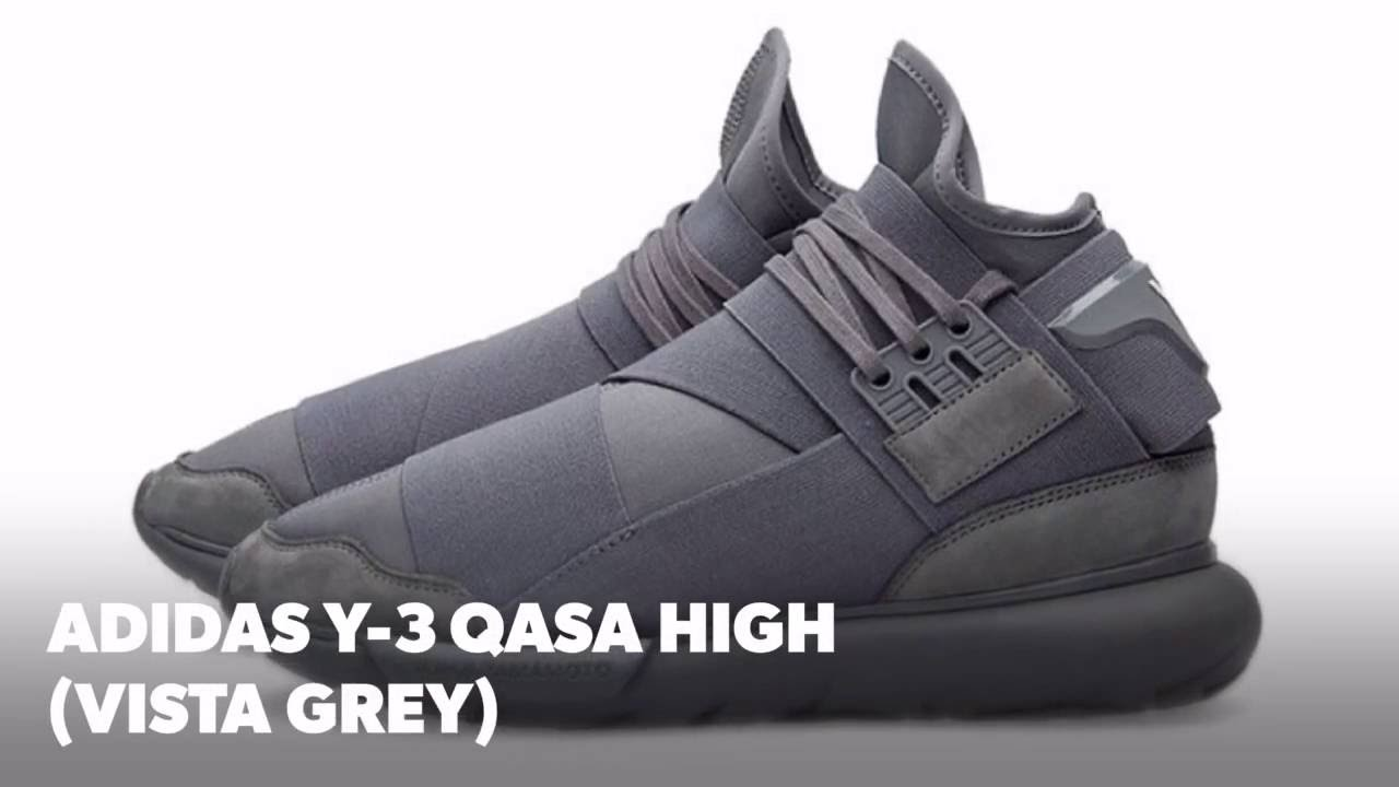 ADIDAS Y-3 QASA HIGH (VISTA GREY)  S SNEAKERS - YouTube 2ffcd93afa1d