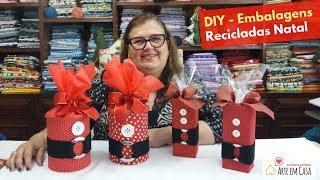 Faça Embalagem para Presente de Natal – Reciclando