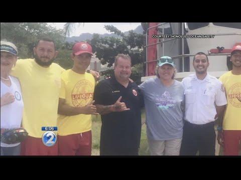 Ocean Safety rescue reunion