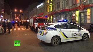 Видео с места наезда иномарки на пешеходов в Харькове