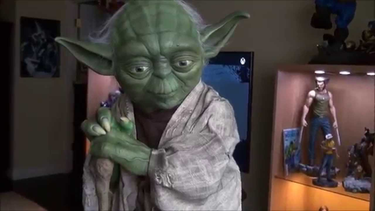 Yoda Life Sized Statue by Sideshow Collectibles - YouTube