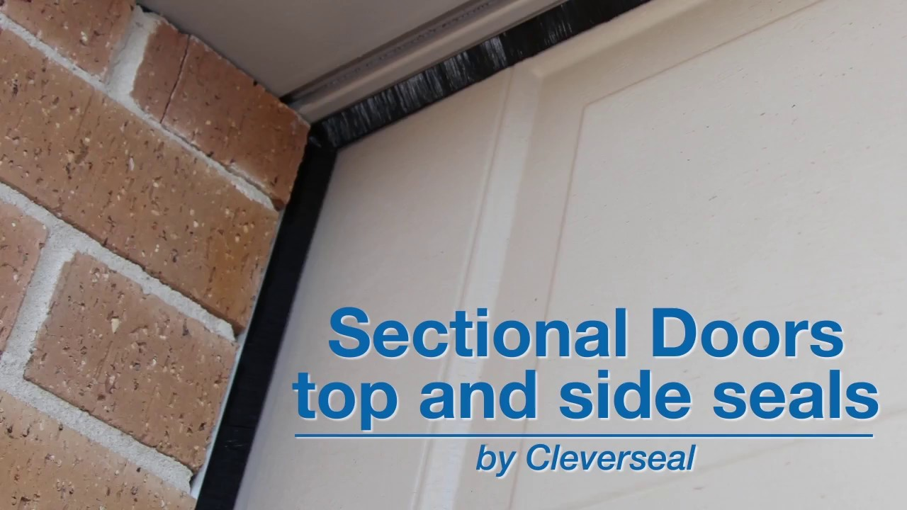 Sectional Garage Door Top And Side Seals Youtube
