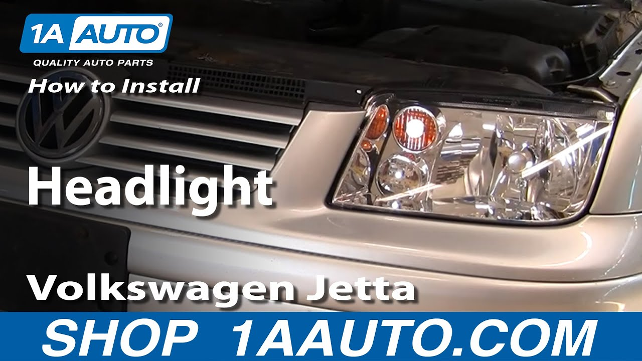 How To Replace Headlight 02 05 Volkswagen Jetta
