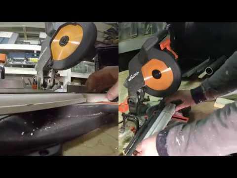 Evolution R210CMS ( portugues review ) serra meia esquadria que corta tudo