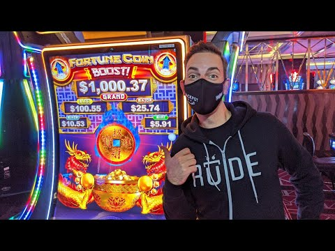 🔴-live-first-look-💥-fortune-coin-boost-slot-machine-🎰-the-d-las-vegas-#ad