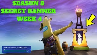 Fortnite - SEASON 8 WEEK 4 SECRET BANNER LOCATION IN LOADING SCREEN #4 - COMPLETED