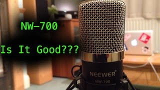 neewer nw 700 condenser microphone review test