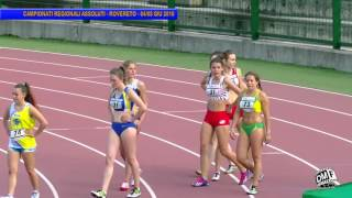 02 | 100 Femminile | Campionati Regionali TAA Assoluti | Rovereto | 04giu16