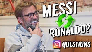 """Messi or Ronaldo?"" - Jürgen Klopp Answers Most Frequently Asked Instagram Questions"