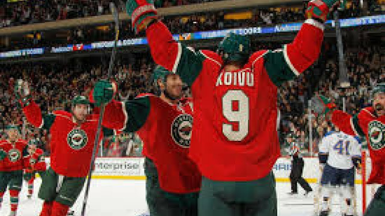 big sale 42dd2 4d97a Most Memorable goals from the Minnesota Wild in their history (until 2017)