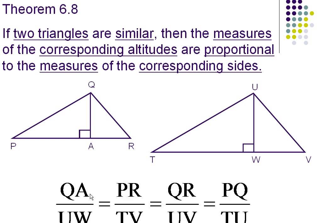 proportional parts of similar triangles youtube
