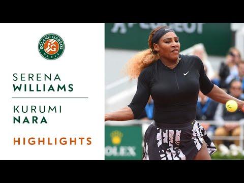 Serena Williams vs Kurumi Nara - Round 2 Highlights  Roland-Garros 2019