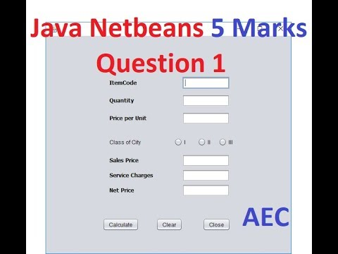 5 Mark Questions for Java Netbeans - 1, Class XI and XII Informatics  Practices