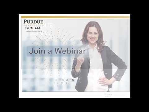 Join A Purdue Global Student Webinar 2019