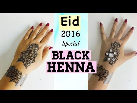 Mehndi Lace Tattoo : Eid special black henna mehndi tattoo easily at home diy