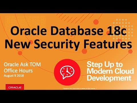 Oracle Database 18c New Security Features