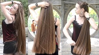 RealRapunzels - Irina´s outdoor hairplay (preview)