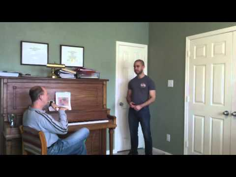John Nix teaching demonstration lesson with a tenor