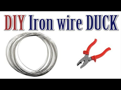 DIY Iron wire duck || How to make DUCK with iron wire