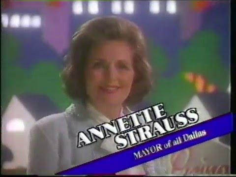 Annette Strauss for Dallas mayor - 1987 campaign ad