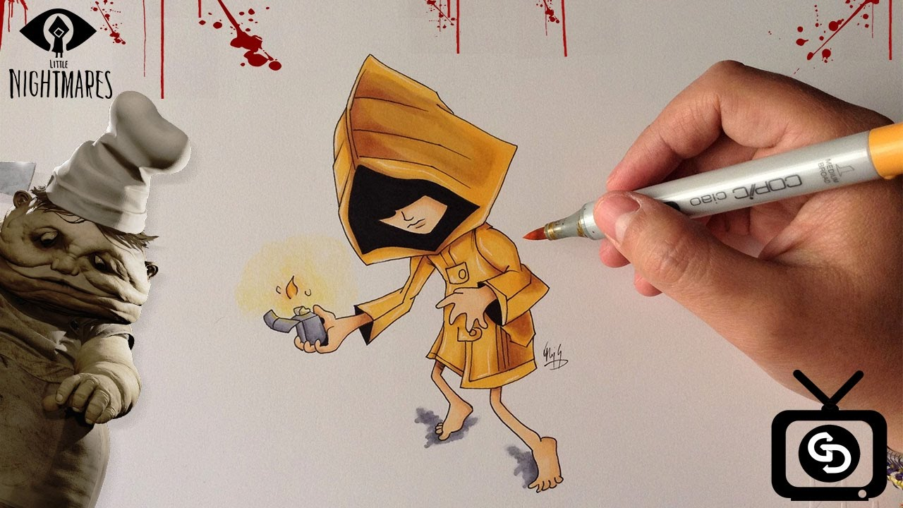 how to draw six little nightmares