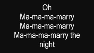 Lady Gaga - Marry The Night (lyrics on screen)