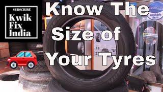 How to know tyre size?   टायर आकार कैसे जानें यह देखो?