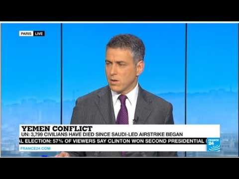 Adam Barron and Lakhdar Brahimi on recent escalation in the Yemen War on FRANCE 24