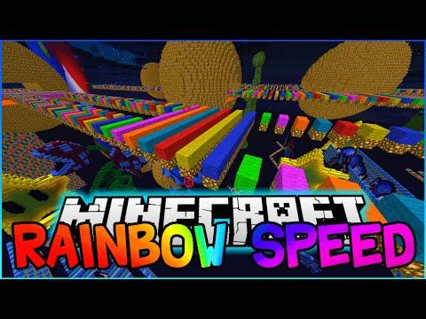 Minecraft RAINBOW SUPER FAST PARKOUR #2! w/PeteZahHutt, PrestonPlayz & KenworthGaming