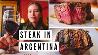 MOUTH-WATERING STEAK at an Argentine Steakhouse in Mar del Plata, Argentina