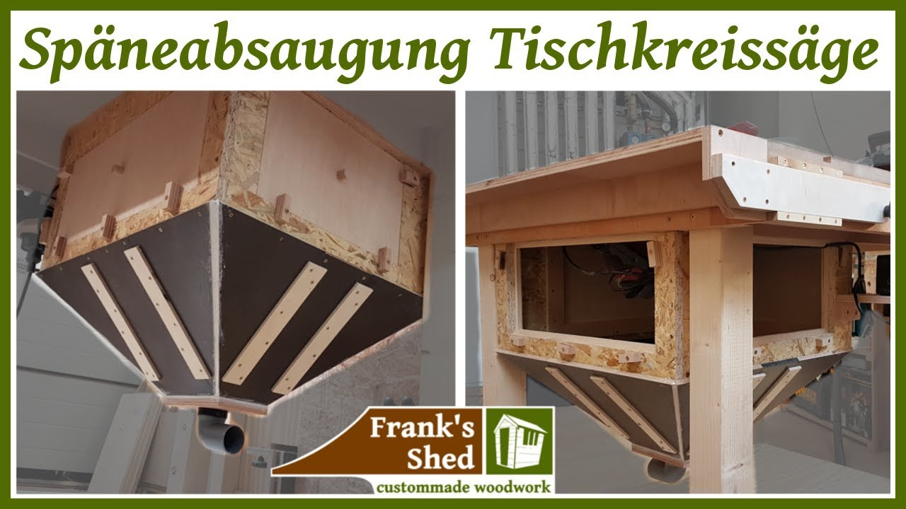 absaugung f r tischkreiss ge selber bauen diy dust collection tablesaw werkstatt einrichten. Black Bedroom Furniture Sets. Home Design Ideas