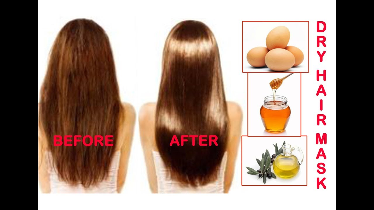Dry Hair Smoothing Mask In Hindi Hair Mask For Smooth Silky Hair At Home Homemade Hair Treatment Youtube