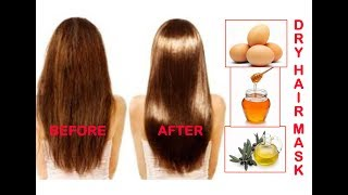 Dry Hair Smoothing Mask In Hindi/Hair Mask for Smooth & Silky Hair At Home/Homemade Hair Treatment