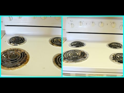 Cleaning routine-Electric Stovetop