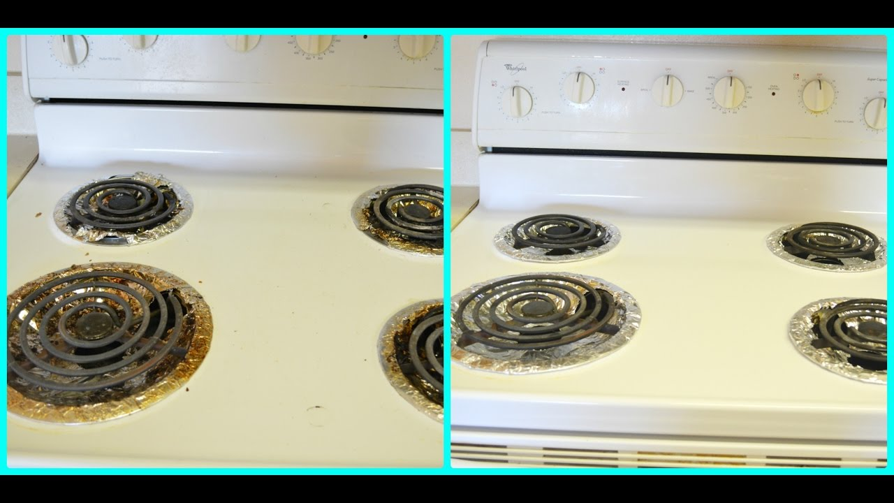 Cleaning Routine Electric Stovetop