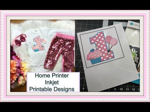 Designing With Printable Heat Transfer Using Cricut Explore Print Then Cut
