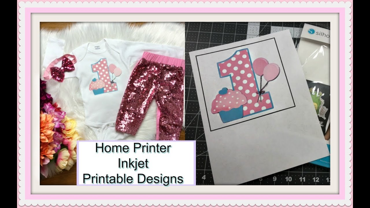 Designing with Printable Heat Transfer Using Cricut Explore Print Then Cut