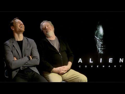 Alien Covenant s  Michael Fassbender, Ridley Scott, Katherine Waterston, McBride, Cruddup