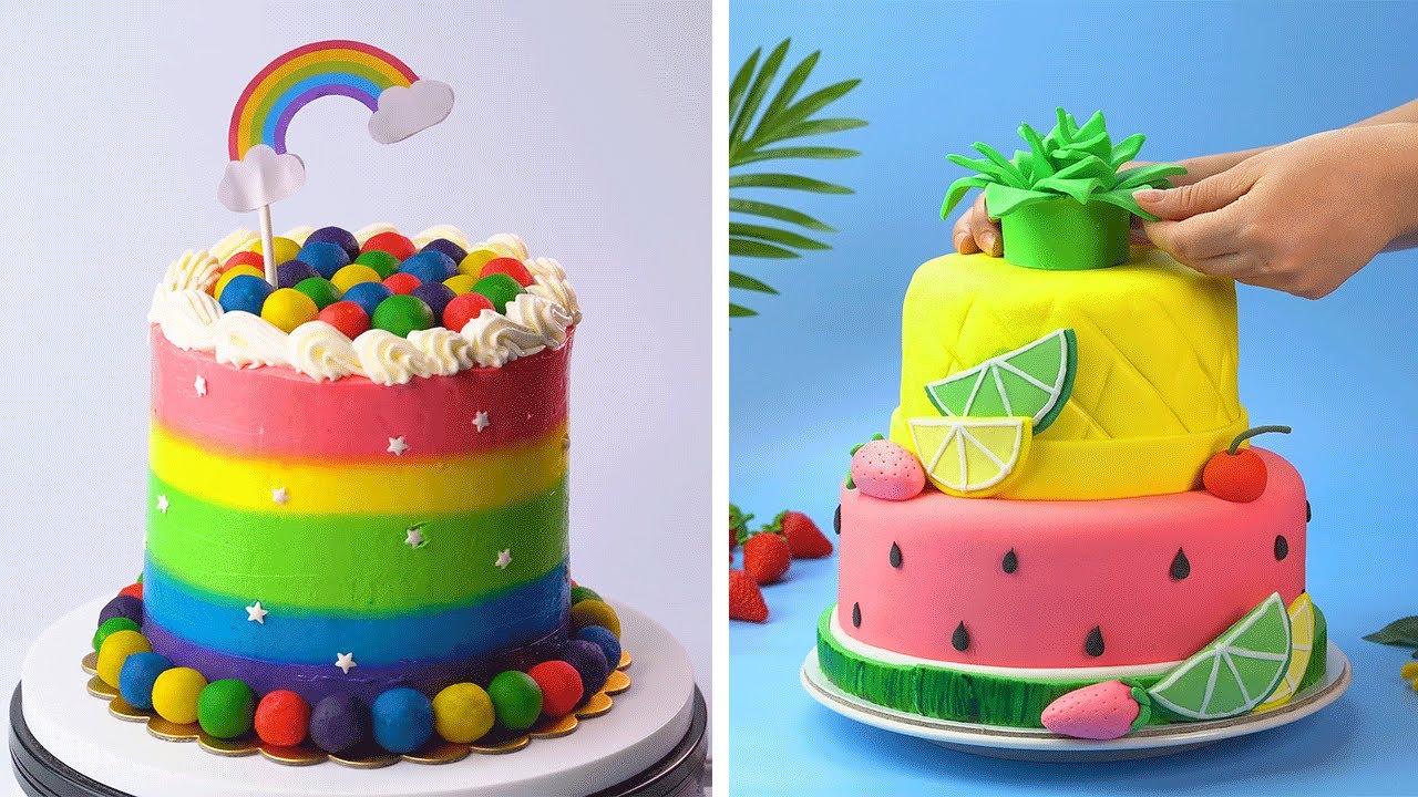 10 Amazing Rainbow Cake Decorating Ideas | Beautiful Cake Decorating Tutorials | So Yummy Cake
