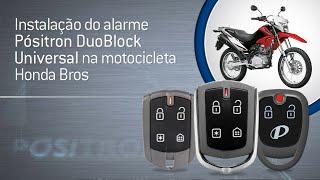 Instalação do alarme Pósitron Duoblock Universal na motocicleta Honda Bros