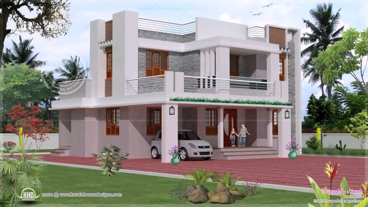 Duplex house exterior design pictures in india youtube for Duplex house india