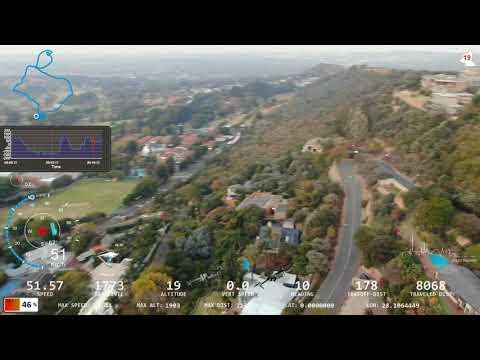 Awsome flight on Mavic 2 with Dashware Telemetry interface
