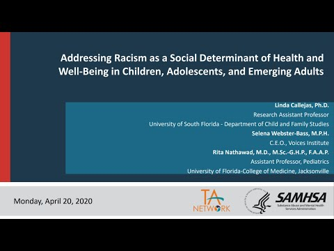 Addressing Racism As A Social Determinant Of Health & Well-Being