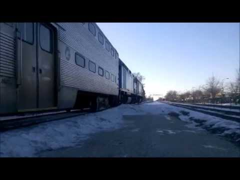 [HD] Railfanning Arlington Heights Metra Station During Rush Hour on 2-19-2015