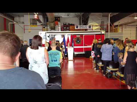Chestermere Fire Services Probationary Firefighter Graduation Ceremony 2017