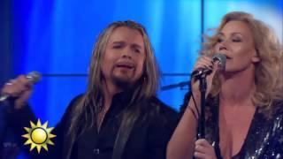 """Rock of 80:s sjunger """"Here I go again""""   - Nyhetsmorgon (TV4)"""